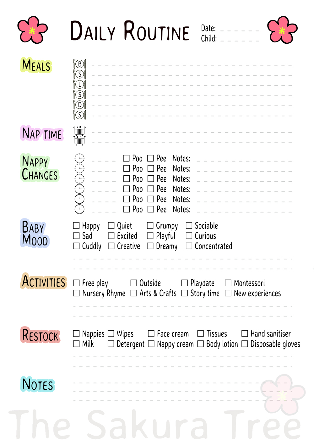 Download Daily Routine - Free Printables - thesakuratree.com