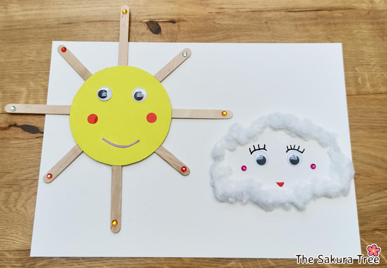 arts & crafts - sun and cloud flying - thesakuratree.com