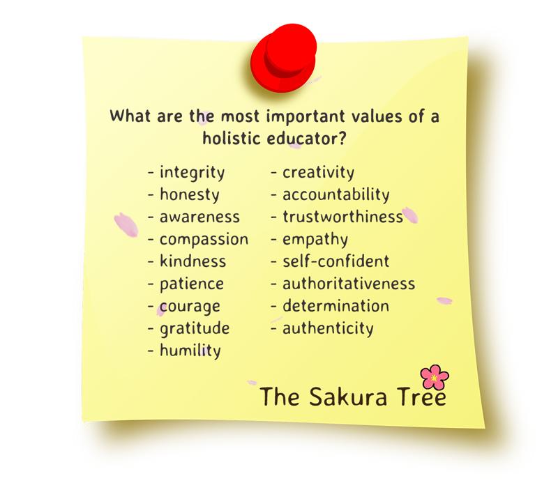 values of a holistic educator - thesakuratree.com