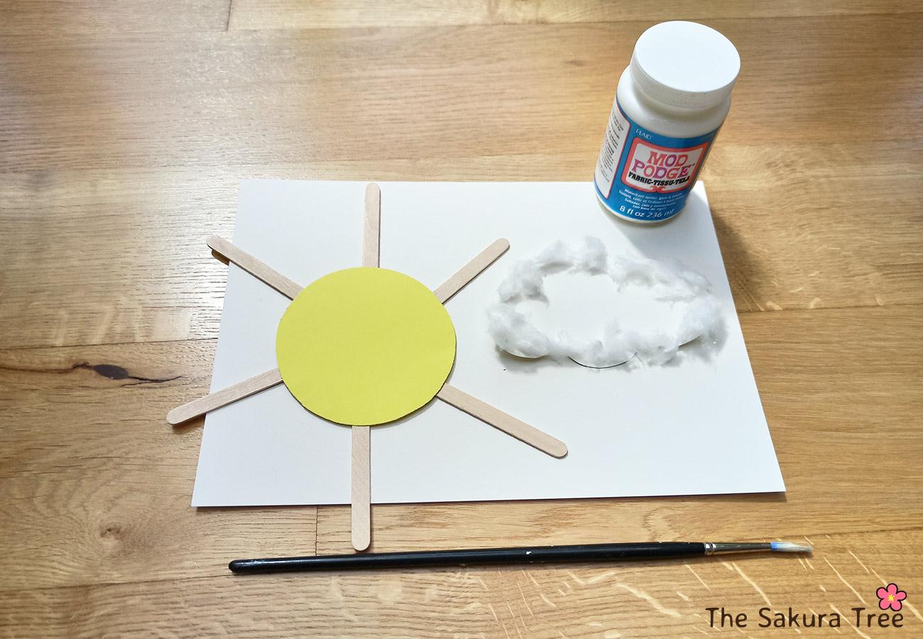 working process - sun and cloud flying - thesakuratree.com