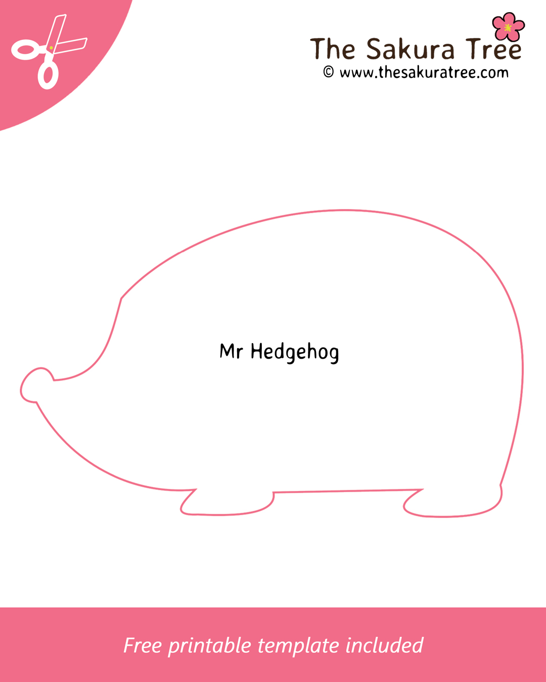 Free Printable Mr Hedgehog