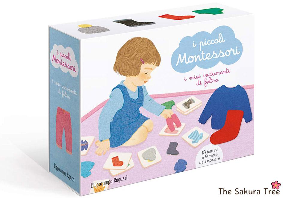 I piccoli Montessori - indumenti di feltro